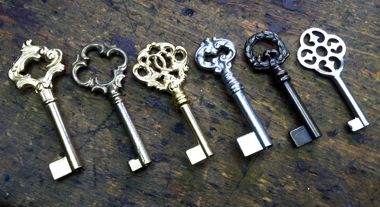 We have a large selection of high quality European bit and barrel skeleton keys - these are just some of our favorites