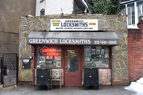 Scouting New York thinks Greenwich Locksmiths is the coolest locksmith shop in NYC