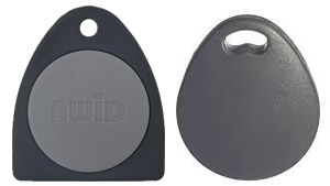Greenwich Locksmiths copies triangle and clamshell AWID format key fobs