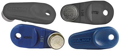 Greenwich Locksmiths copies Schlage iButton contact and proximity key fobs