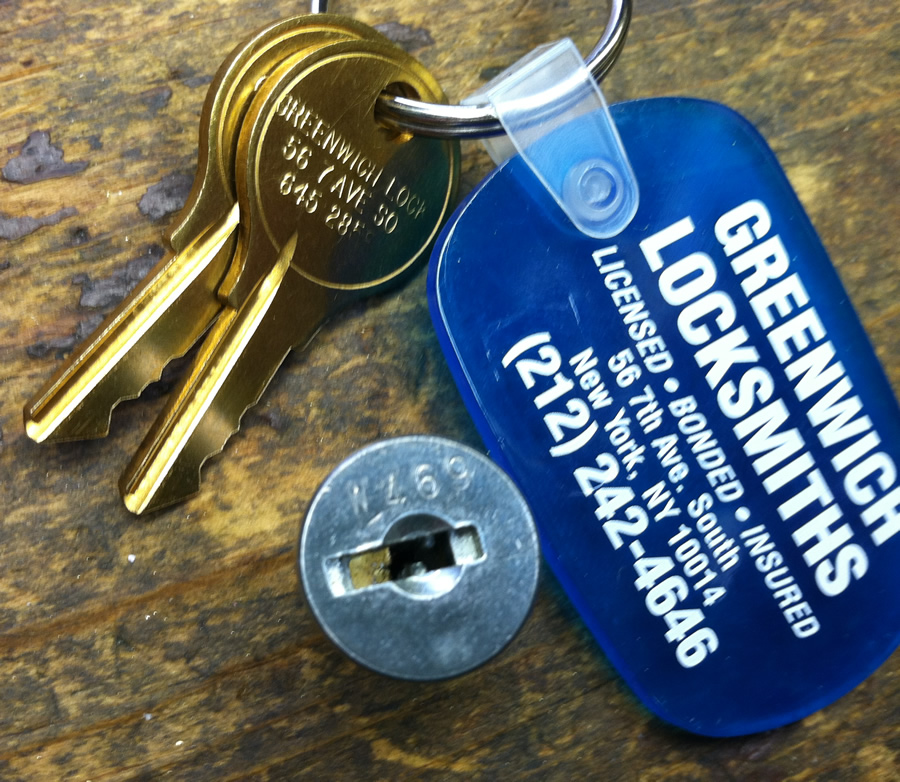 With the key code on the front of the lock, we can make you a new set of keys even when you don't have them. Some are harder to read than others - this one for example is W469