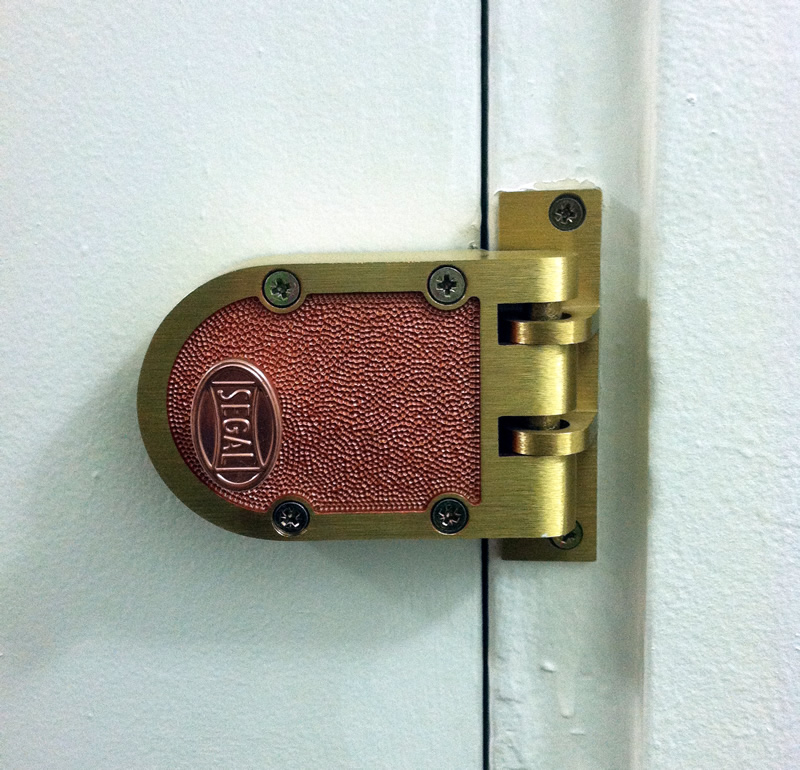 A jimmy-proof deadbolt is the most cost effective way to secure your door here in NYC